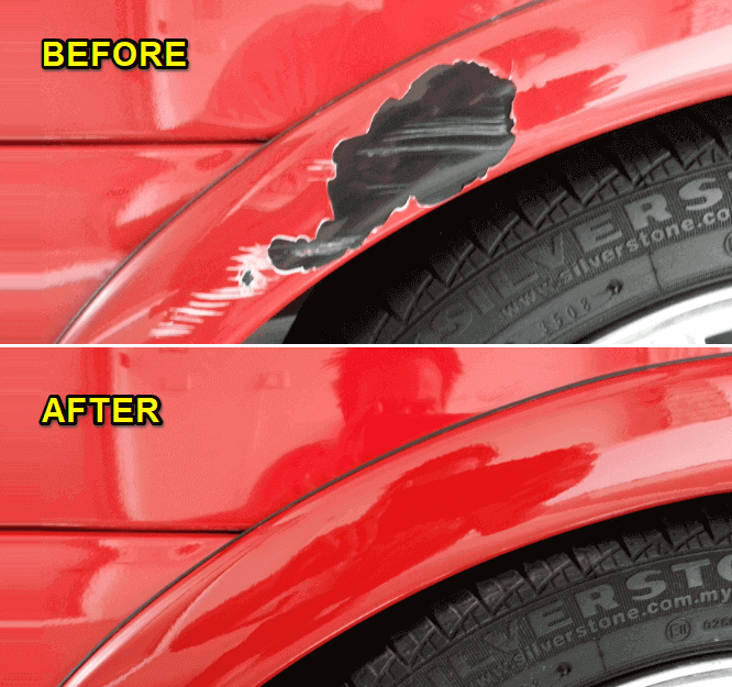 how to remove scratches from car