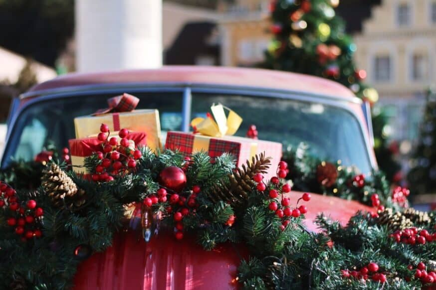how to decorate your car for christmas