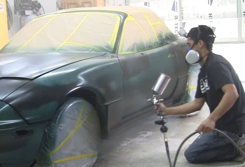 how to paint a car at home outside