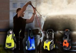 pressure washer for washing cars